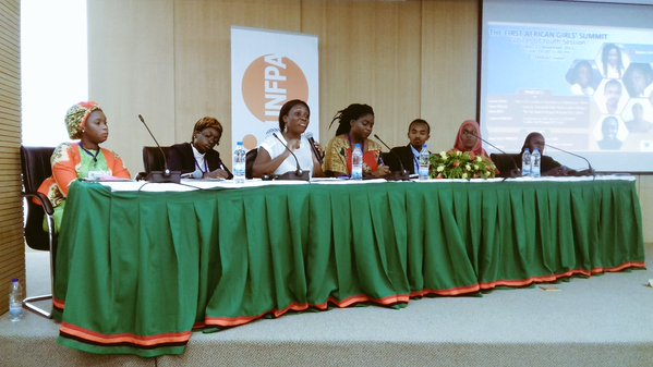 Panelists at the 'Voices of Youth' side event