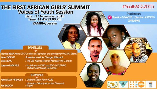 The Voices of Youth Side event at #AGS2015