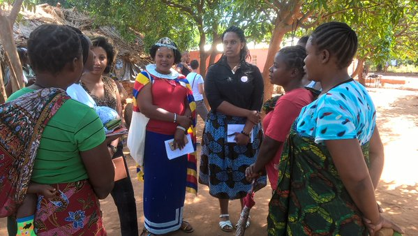 Youth For Change visit DFID Zambia project