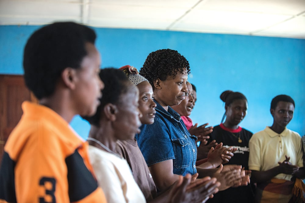 Rwandan women attend support group for survivors of the 1994 genocide (Credit: Crystaline Randazzo for Bread for the World )