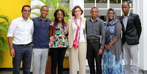 The Youth Advisory Group, alongside Lindsay Cameron and Vel Gnanendra