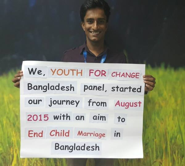 Shawon is currently studying in the Department of Anthropology at Jahangirnagar University, Bangladesh and has always considered child, early and forced marriage to be an obstacle for the greater development of society. His passion for preventing this issue led to him joining Youth For Change and he hopes that with the support of the Youth For Change platform his message will reach a wider audience.    Read all blogs from Shawon.