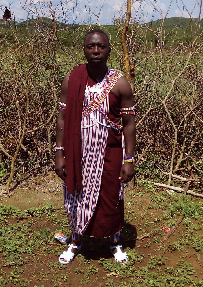 Francis in traditional Moran dress.