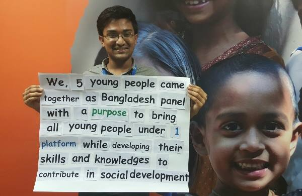 Sifat from the Youth for Change Bangladesh Team