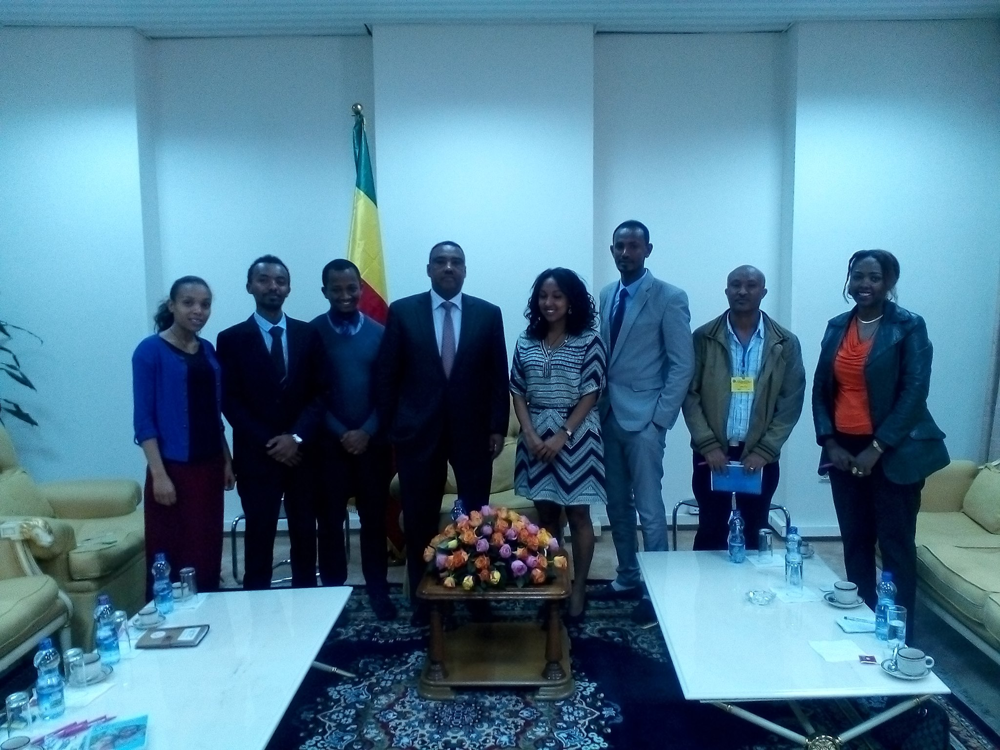 Youth For Change Ethiopia team meeting with Ethiopia's Deputy Prime Minister