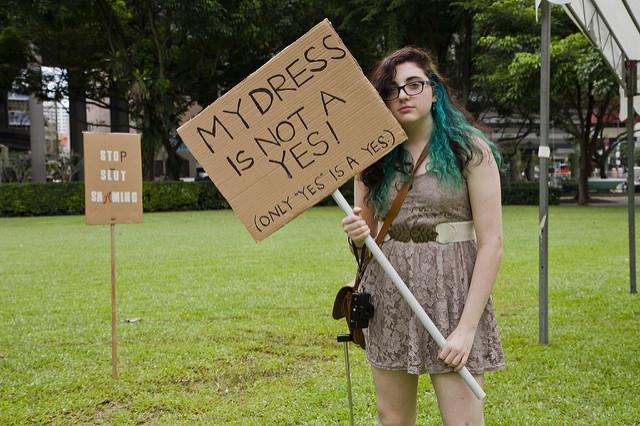 demonstrator at Slut Walk Singapore, 2010 [Credit:  Tamara Craiu ]