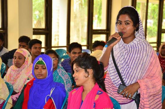 Shahida Akter Shorna, a Member of Young Change Makers Coalition of Bangladesh, shares her story of coming back from being a victim to a savior.