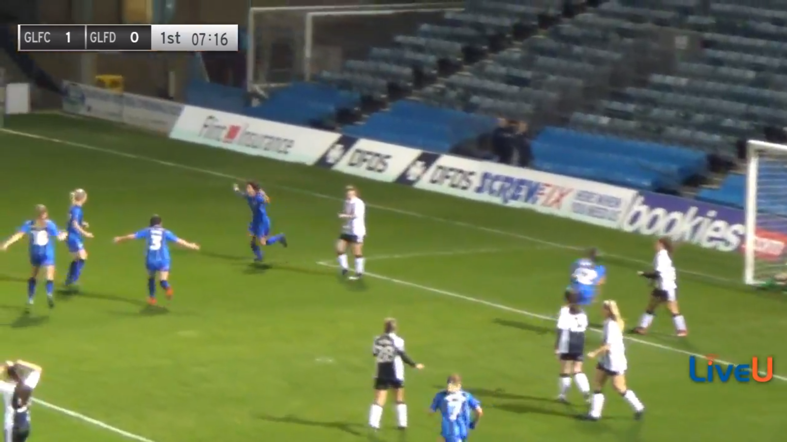 The moment Gillingham took the lead in the Kent FA Women's Cup Final