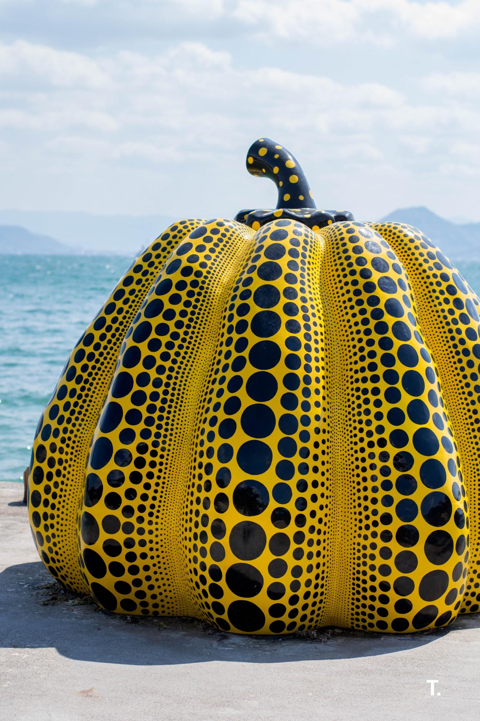 Yayoi Kusama's Yellow Pumpkin on Naoshima