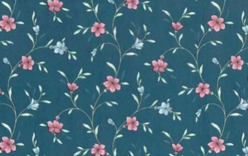 Laura Ashley wallpaper.
