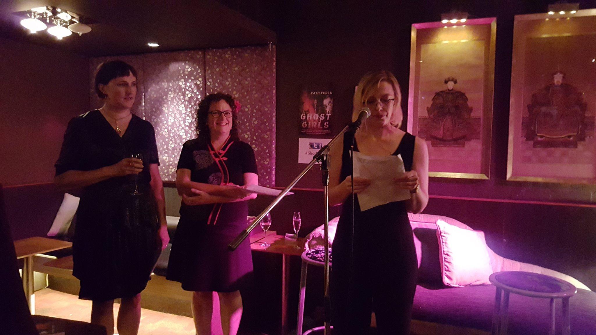 Cath Ferla, Angela Savage and Angela Meyer