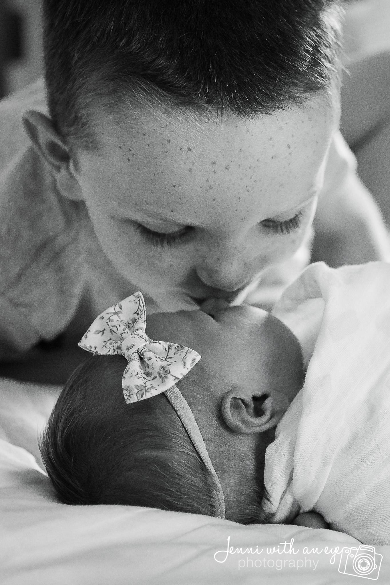Newborn Session, JENNI WITH AN EYE PHOTO