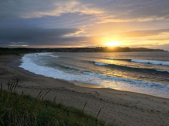 Ballycastle beach last night  #bathlodge #bathlodgers #ballycastlebeach #countyantrim #aonb #northernireland #visitireland #loveireland #seaside #lifesabeach #nofilter