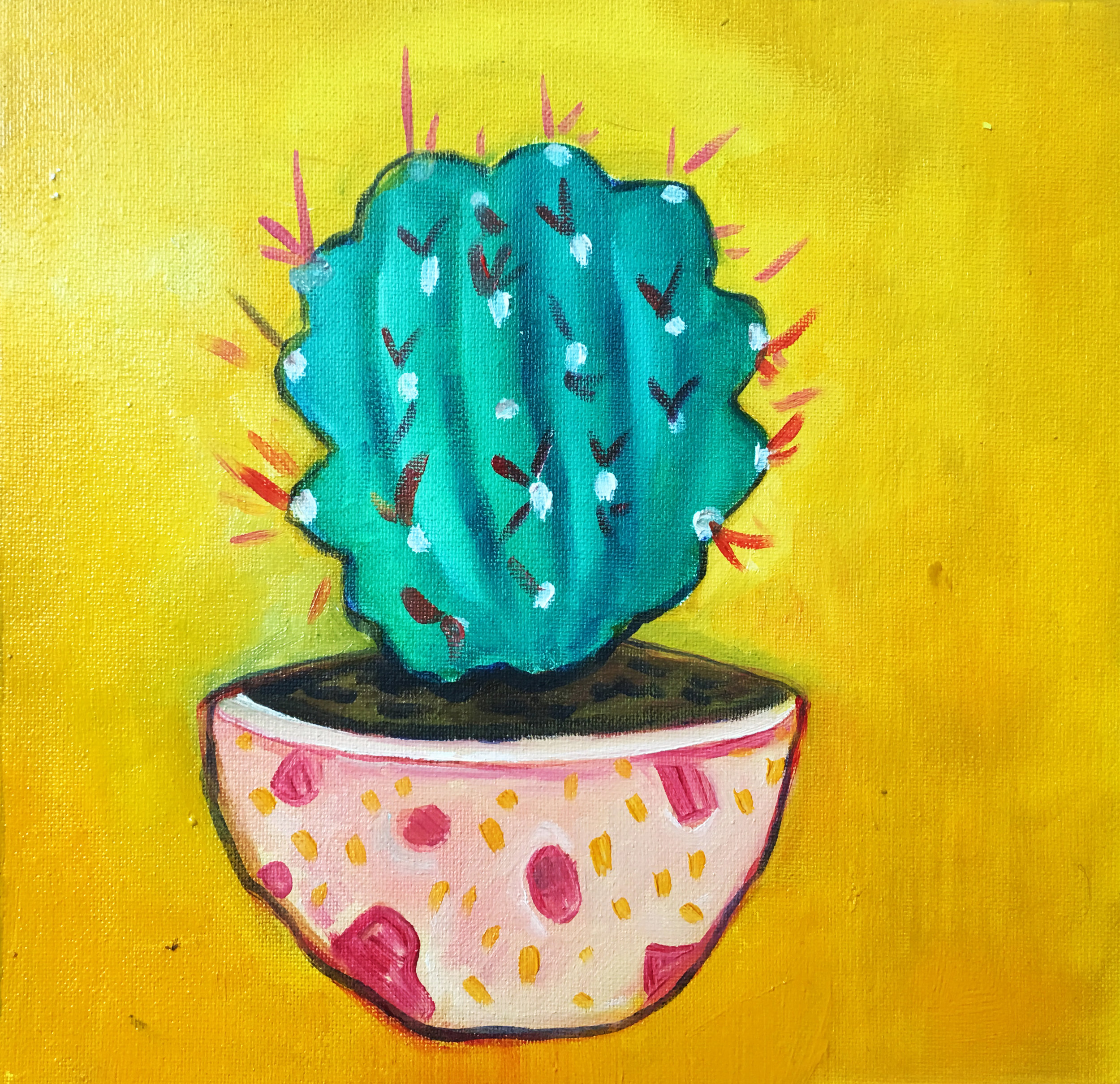 Mexican Cactus (15x15cm) - Was £150 -  Now £70