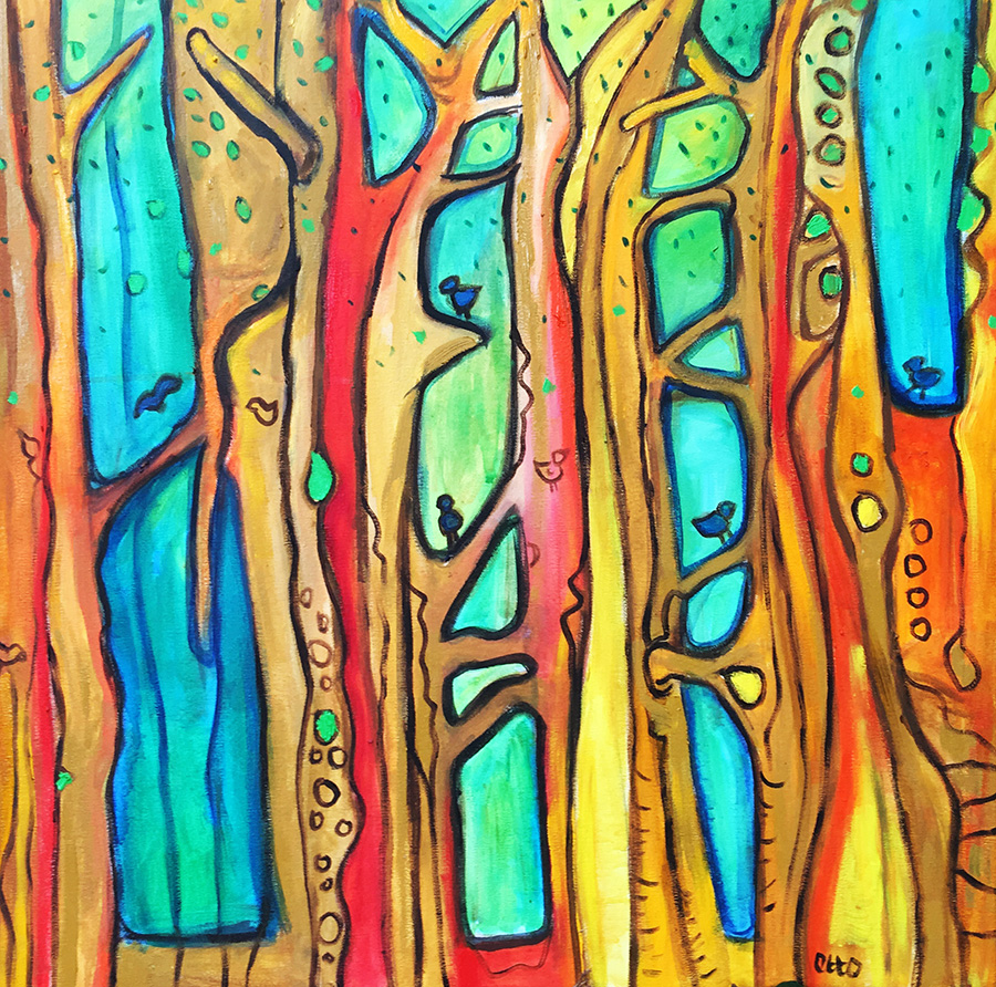 Forest Friends (50x50cm) Was £300 -  Now 200