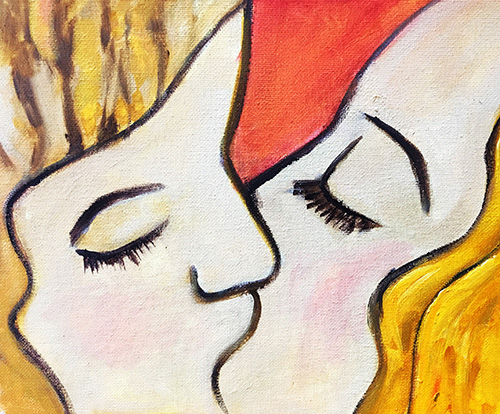 The Kiss (10x10cm) - Was £50 -  Now £20