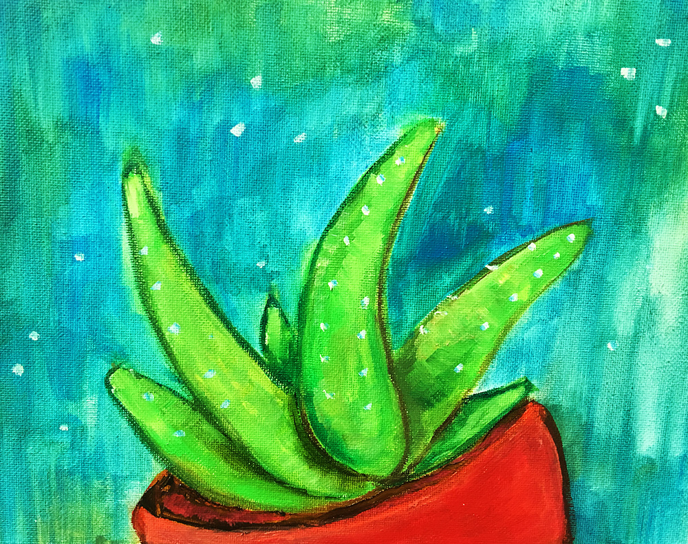 Cactus Pot, 2017 (20x20cm) Was £70 -  Now £40