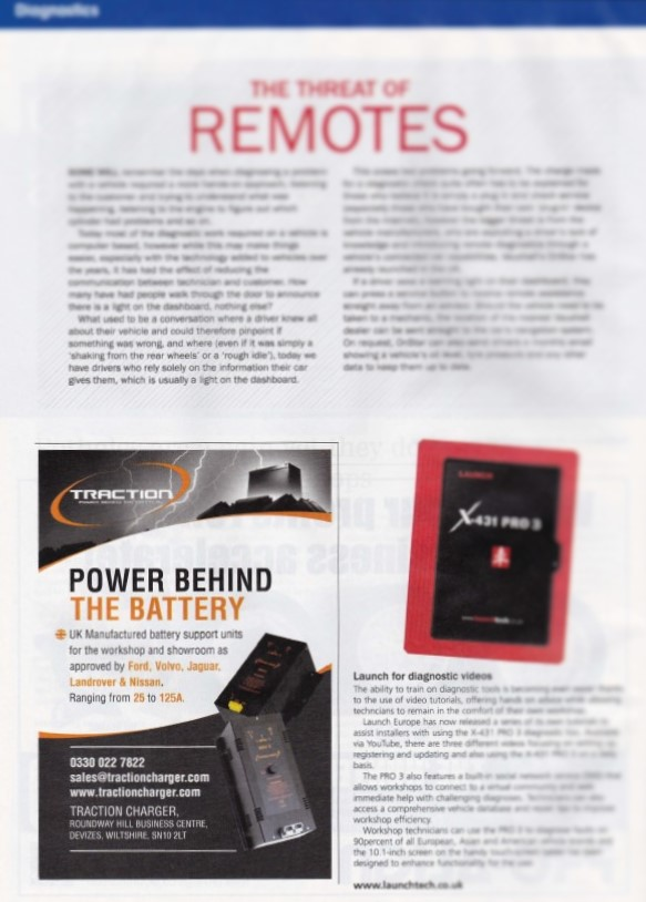 Our recent ad in the Aftermarket magazine highlights key benefits of BSU units for Diagnostic operations.