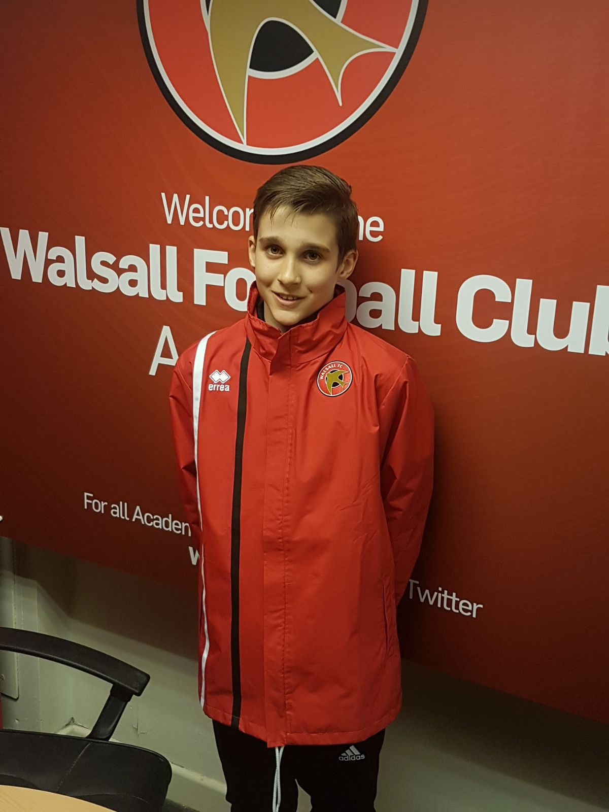 ELLIOTT BALL - AGE: 12CLUB: WALSALL FCPOSITION: LEFT WING / RIGHT WING / FORWARDSTARTED IPDA: 12TH MARCH 2016SIGNED FOR ACADEMY: 27TH MARCH 2018