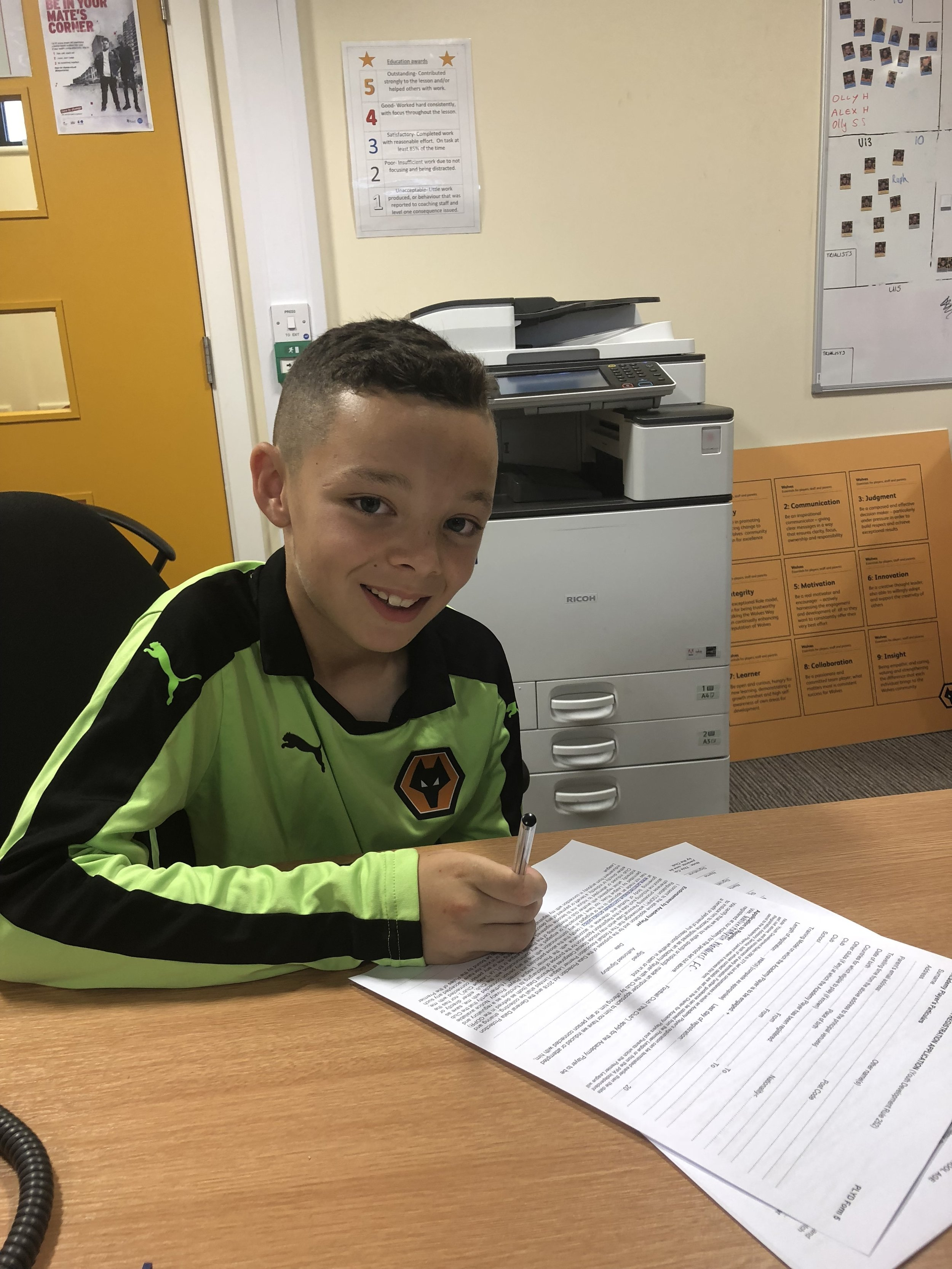 BLAKE HANDLEY - AGE: 9CLUB: WOLVERHAMPTON WANDERERSPOSITION: WINGERSTARTED IPDA: 29TH APRIL 2017SIGNED FOR ACADEMY: 13TH JULY 2018