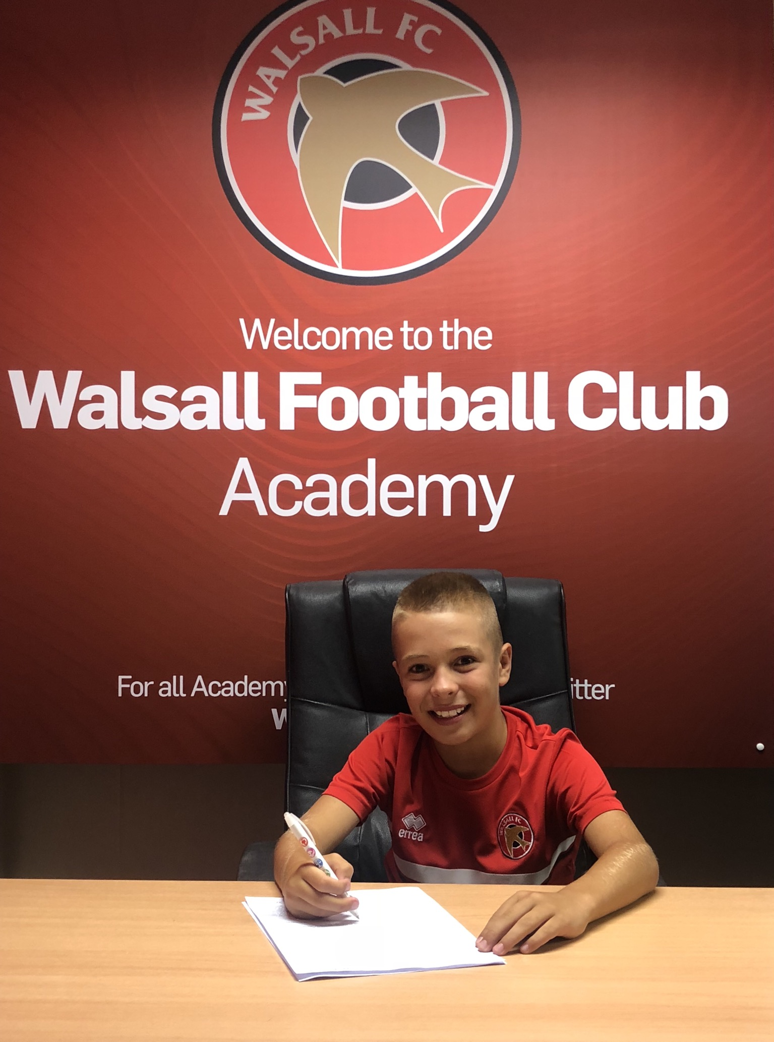 AIDAN EMSLIE - AGE: 10CLUB: WALSALL FCPOSITION: CENTRE MIDFIELDSTARTED IPDA: 3RD NOVEMBER 2017SIGNED FOR ACADEMY: 8TH AUGUST 2018
