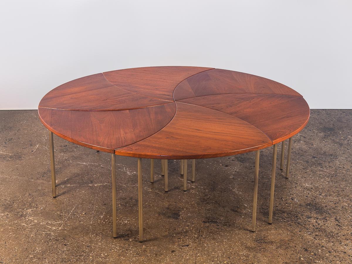 Peter Hvidt Modular Pinwheel Tables