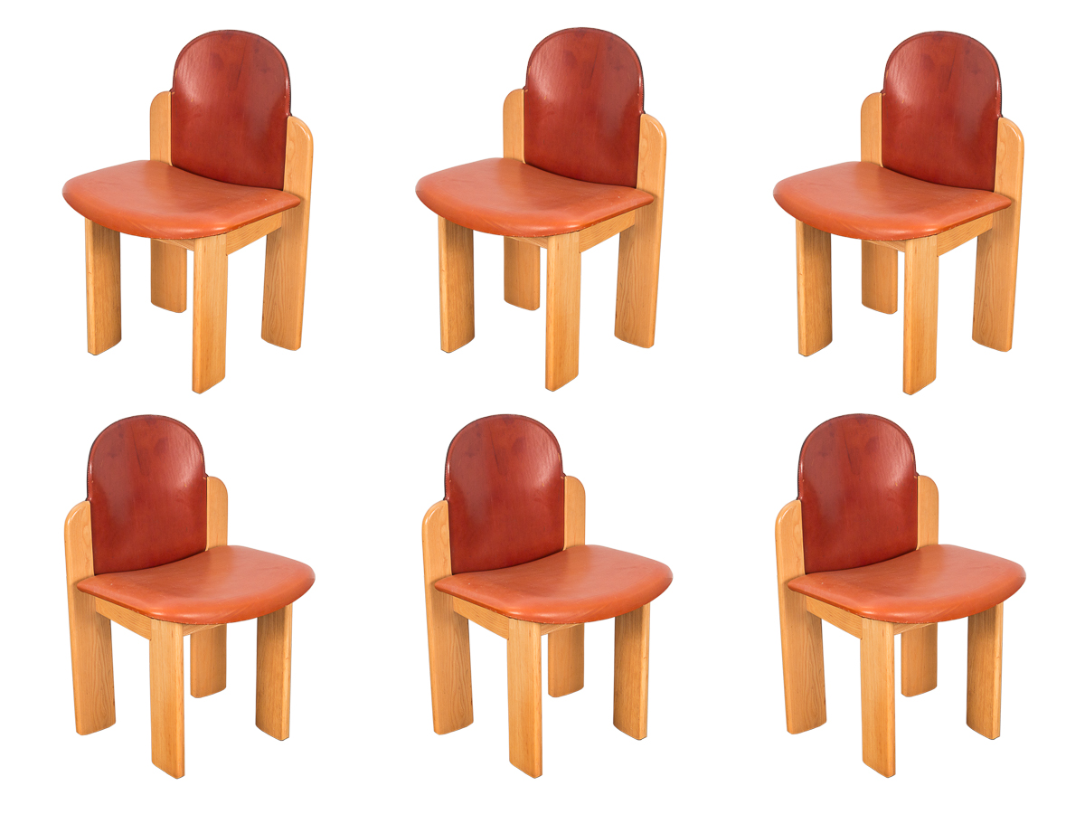 Six Silvio Coppola Dining Chairs