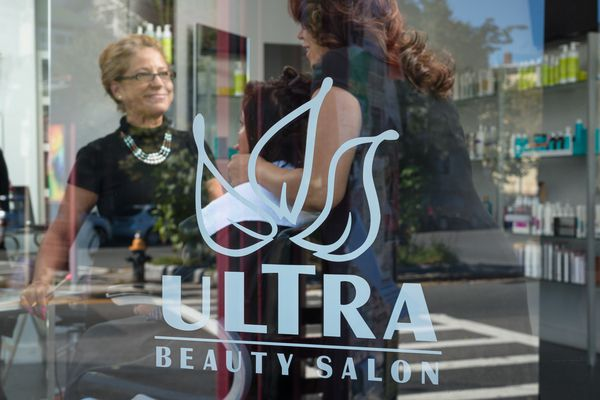 eception area at Ultra Beauty Salon in Hyde Square, Jamaica Plain