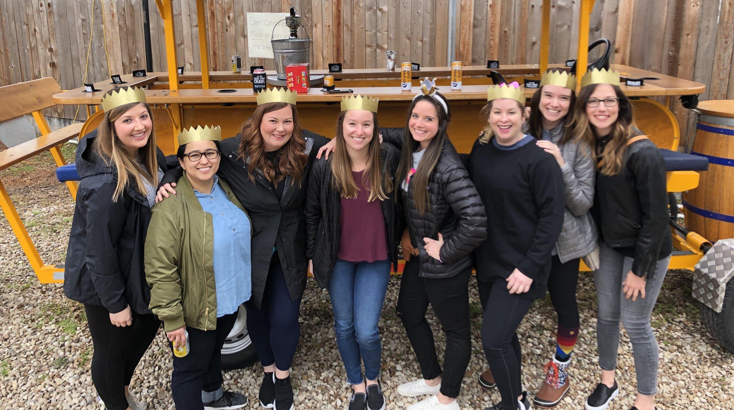 Allie, Nicki, Sarah, Samantha, Bri, Kelsey, April