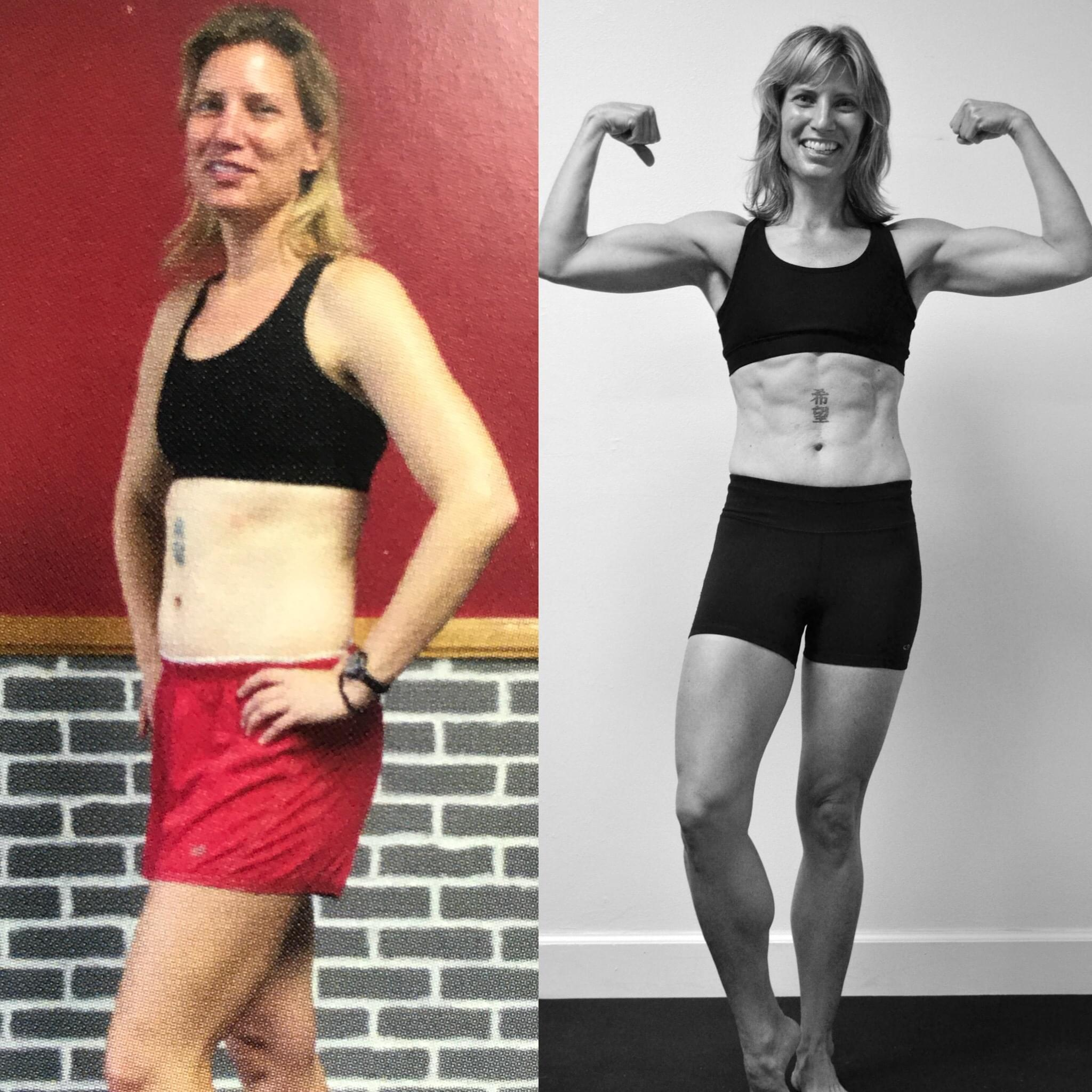 Don't think you have the mental strength or will power to TRANSFORM? Read Amy's Story... - I love CrossFit and what Keoni has built. TRANSFORM is just one reason I've stuck with the CrossFit lifestyle for over seven years. I've made great friends, new running and triathlon partners, and I'm pushed to train for strength, which I'd never do on my own. Mental barriers in fitness and life were holding me back. My CrossFit journey has helped me realize, though it's scary sometimes, the power is within.-Amy Asselbaye