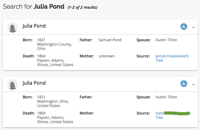 Family Tree DNA Global Search Julia Pond