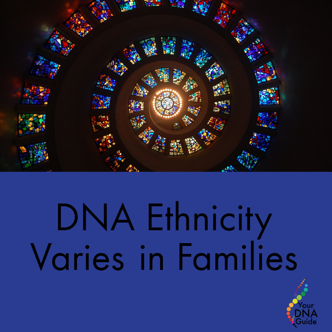 DNA Ethnicity Varies in Families