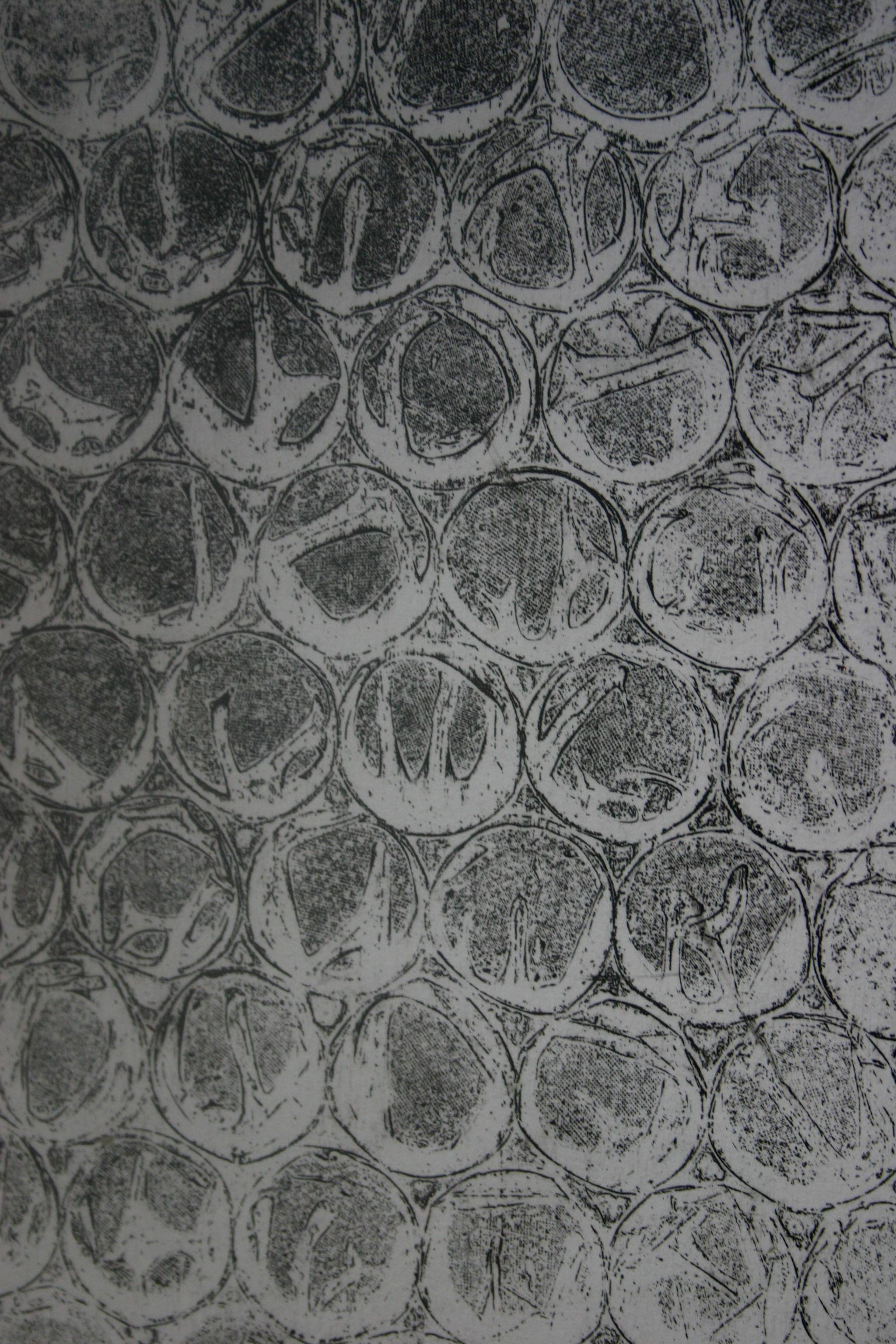 DETAIL OF BUBBLEWRAP ETCHING