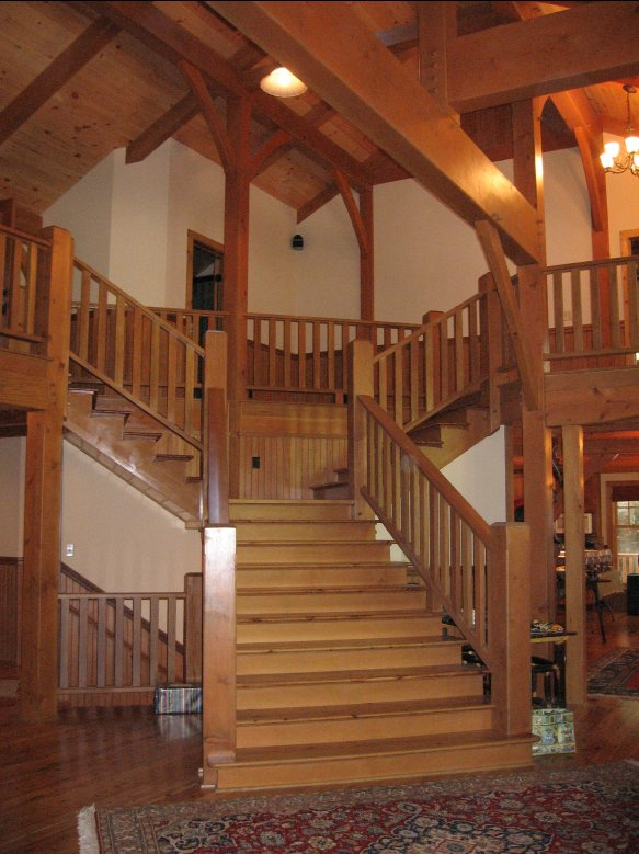 Architecture by Jim Hotaling  Timber Construction by Amstutz Woodworking