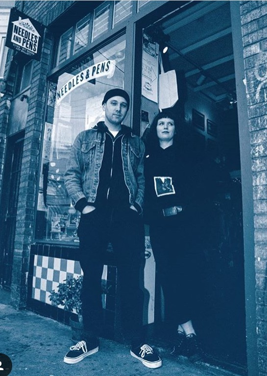 Scott and his partner Breezy Culbertson at original location on 14th street in 2003