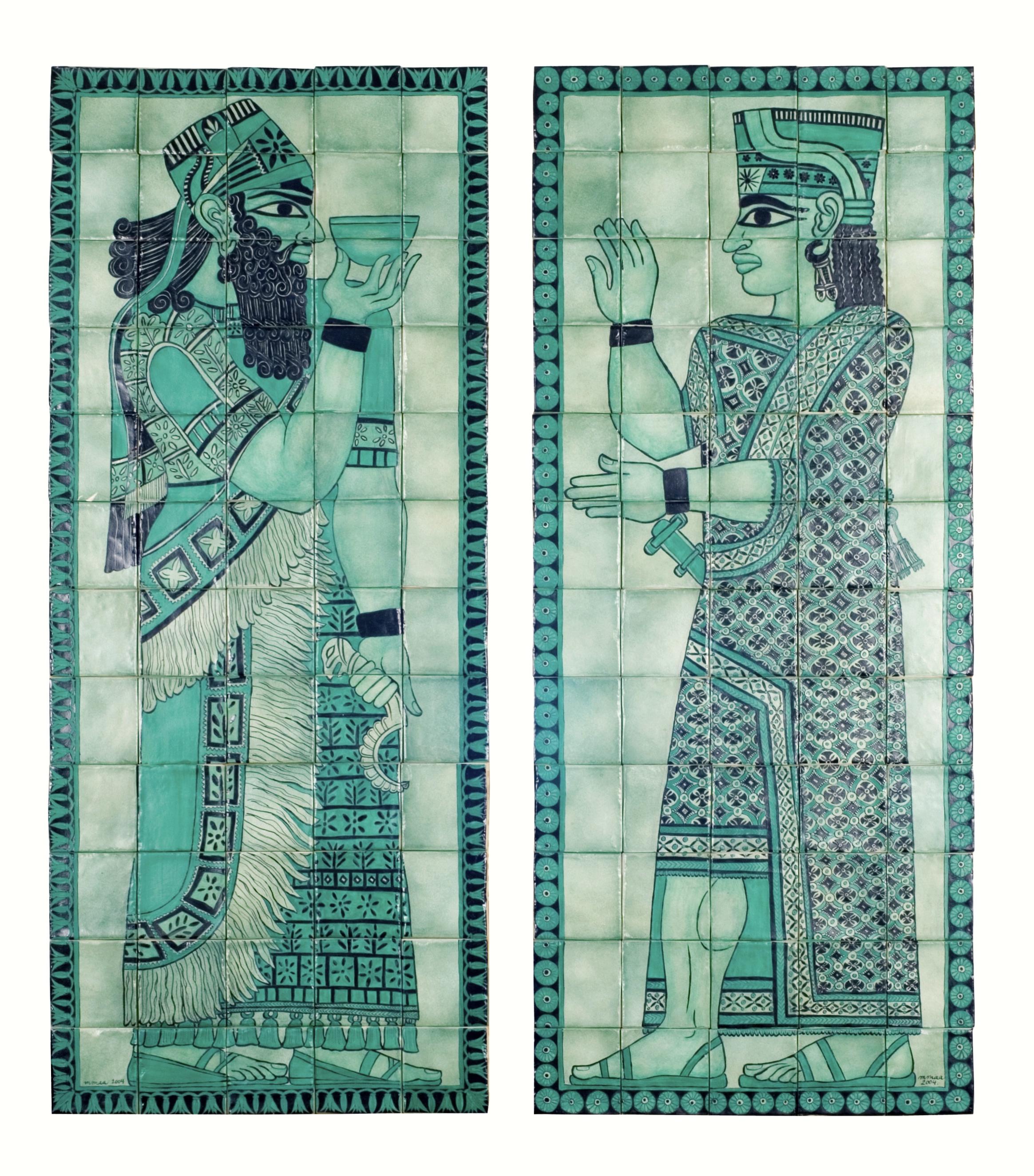 Mesopotamian Gods  - 47 x 20 in, 120 x 51 cm