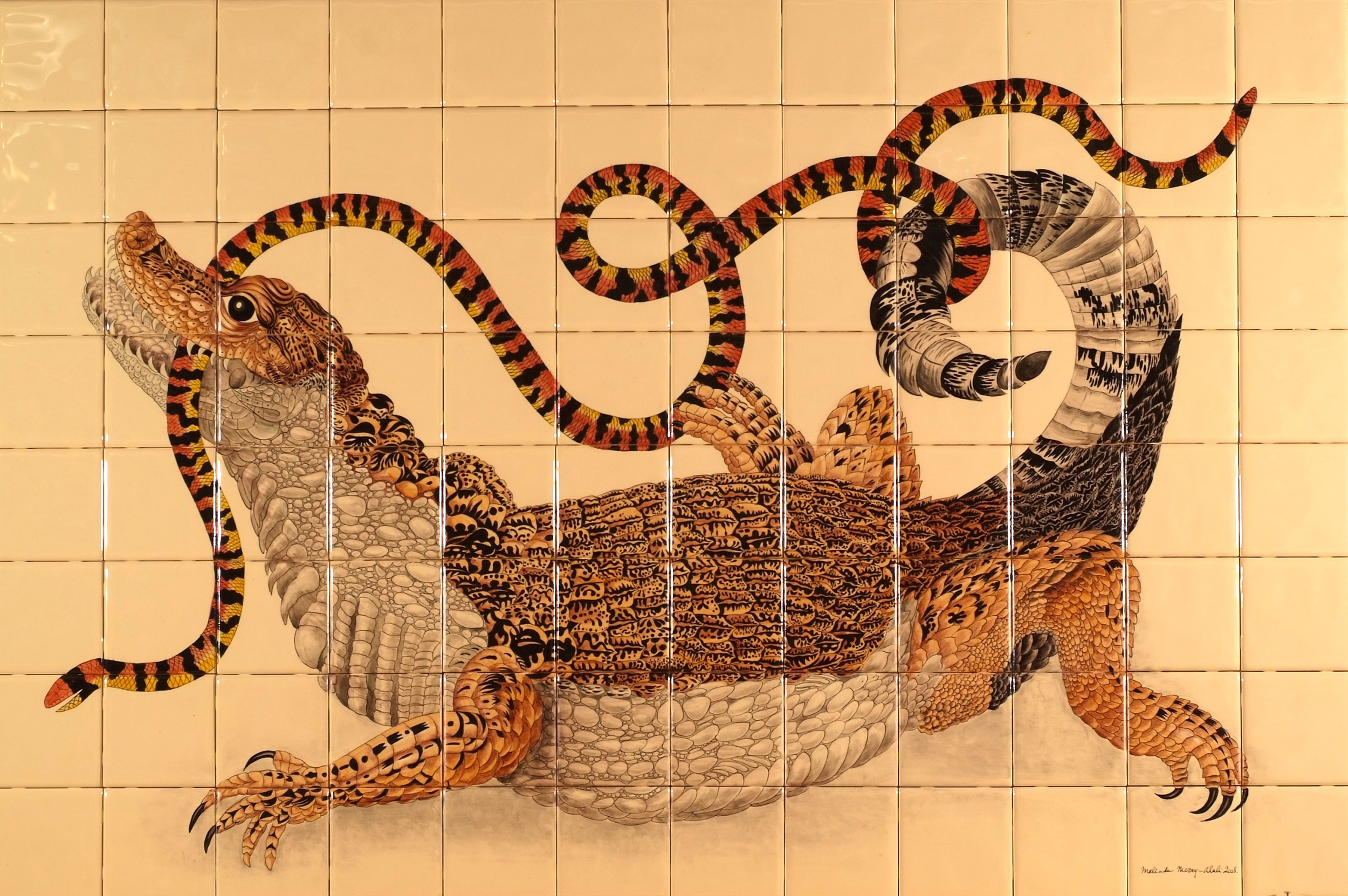 Alligator  - 34 x 51 in, 87 x 130 cm