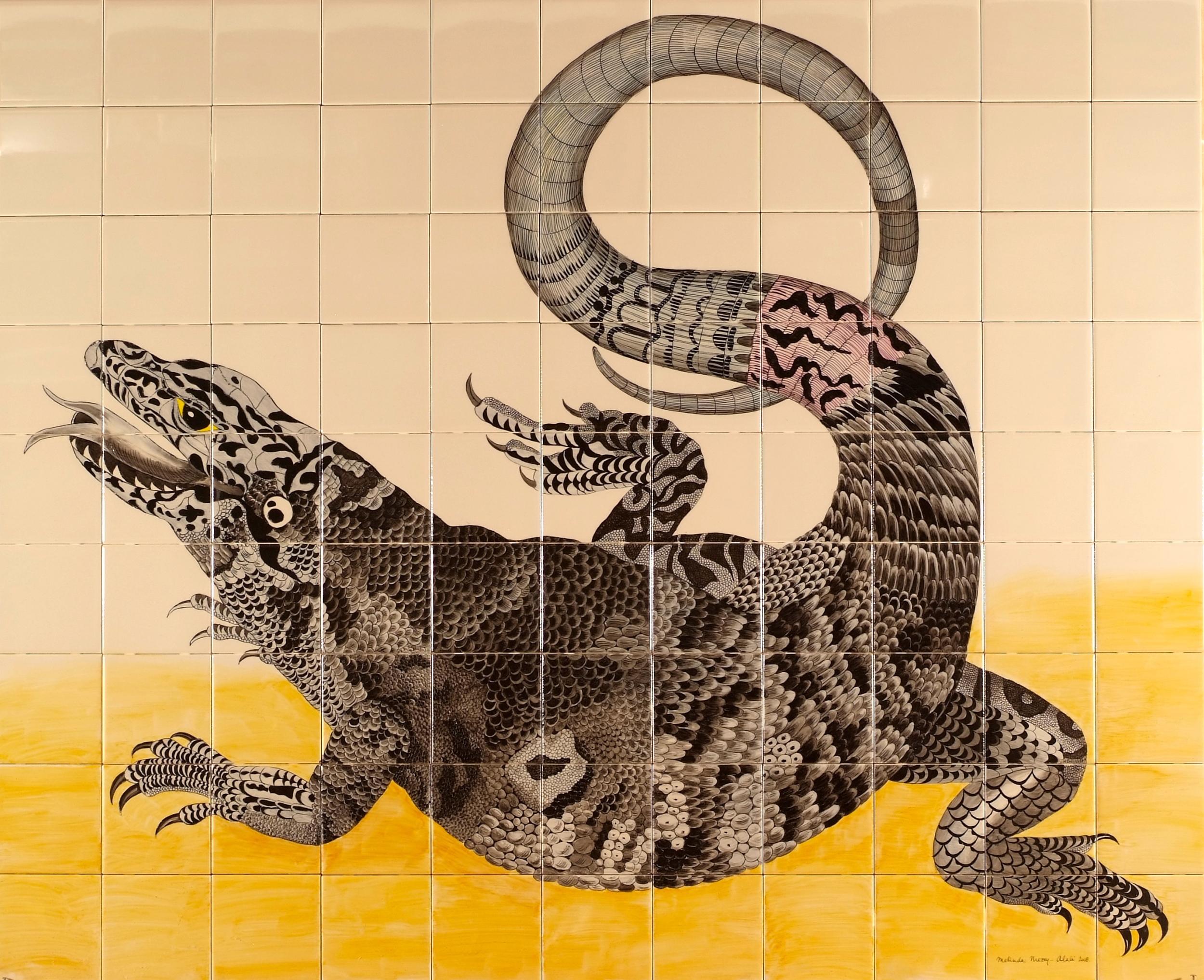 Lizard  - 39 x 47 in, 99 x 120 cm