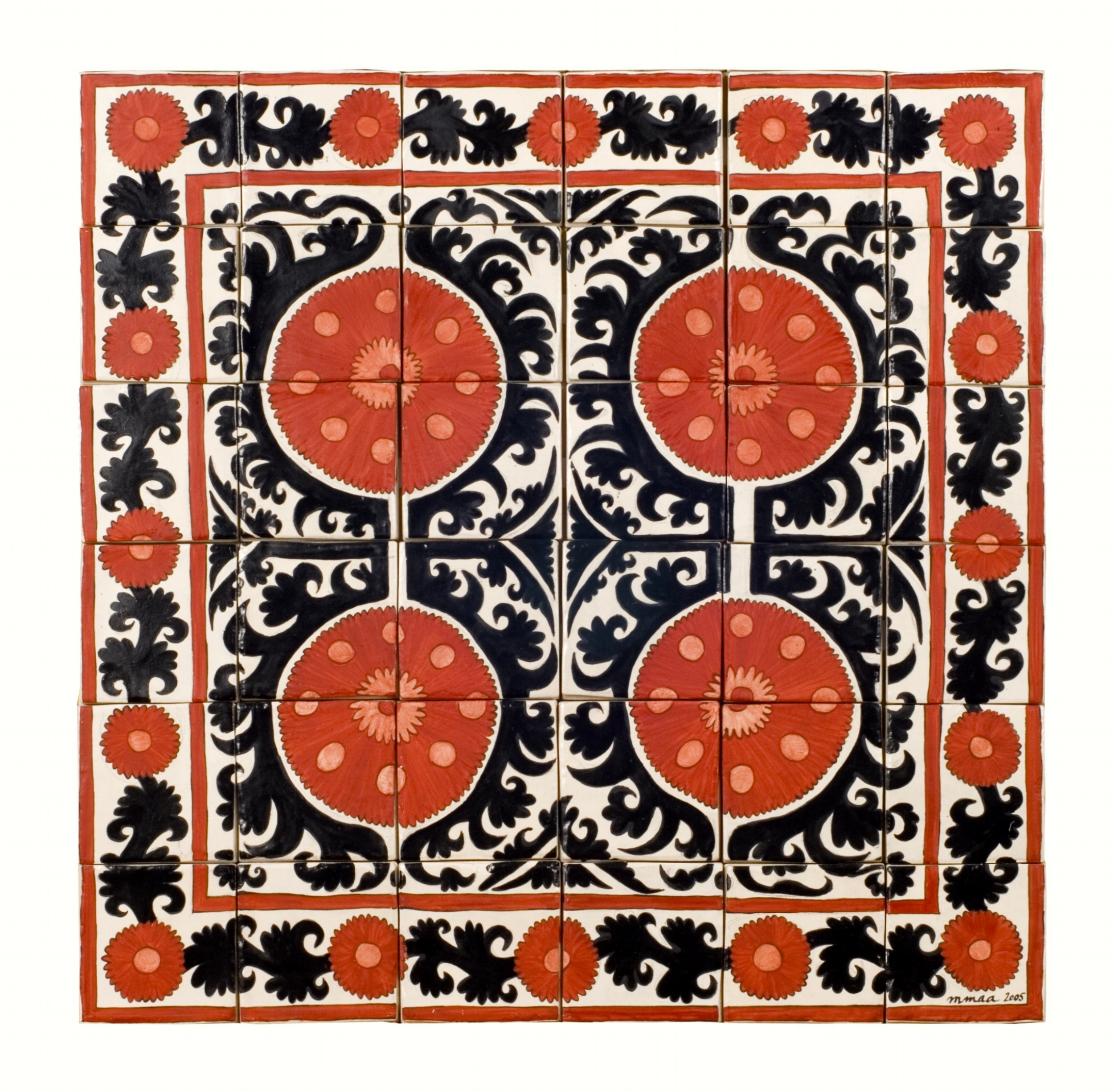 Central Asian Textile Detail  - 23.5 x 23.5 in, 60 x 60 cm