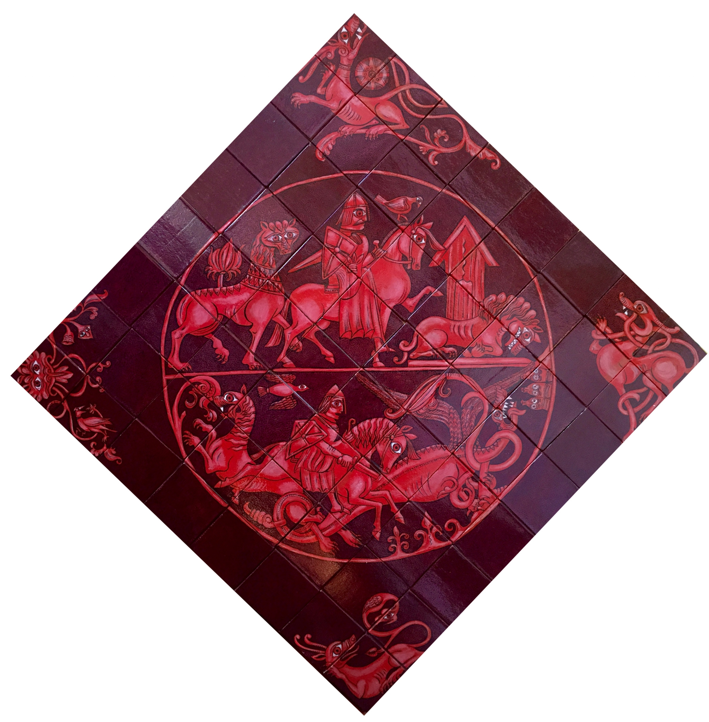 Dragon Slayer  - 47 x 47 in, 120 x 120 cm