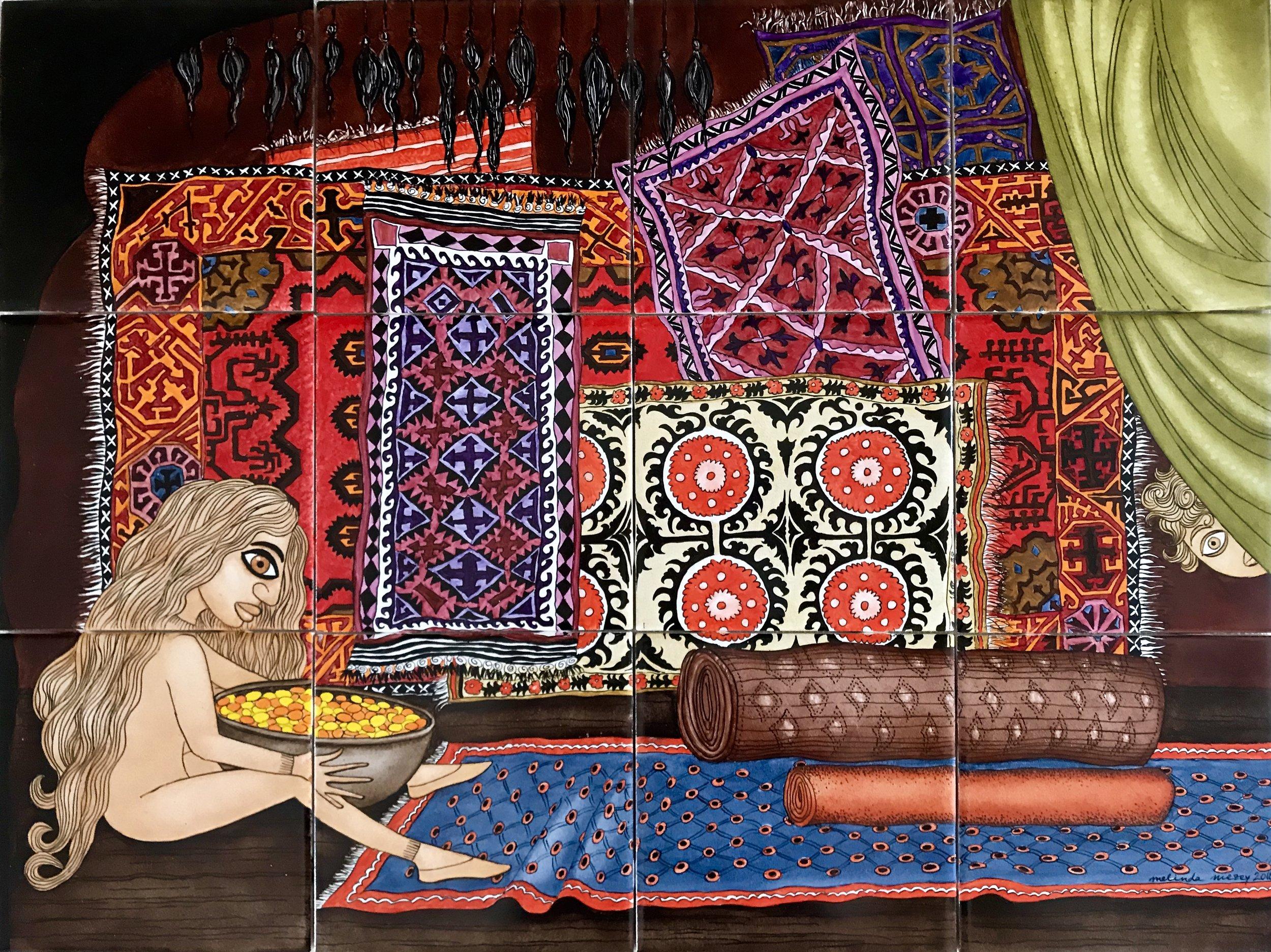 Magic Carpet Souk -  18 x 24 in, 46 x 61 cm