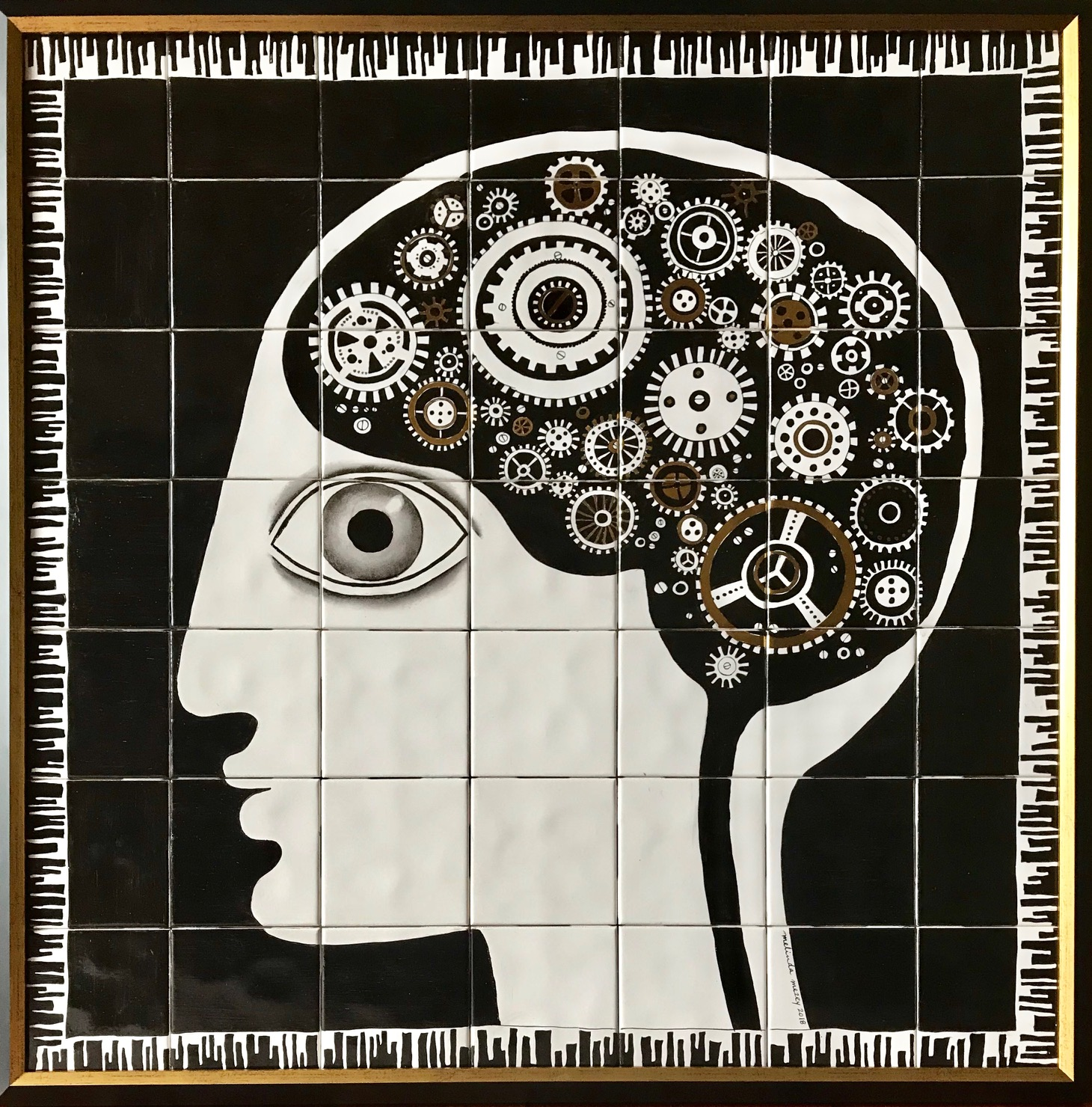 The Inventor's Brain  - 30 x 30 in, 76 x 76 cm