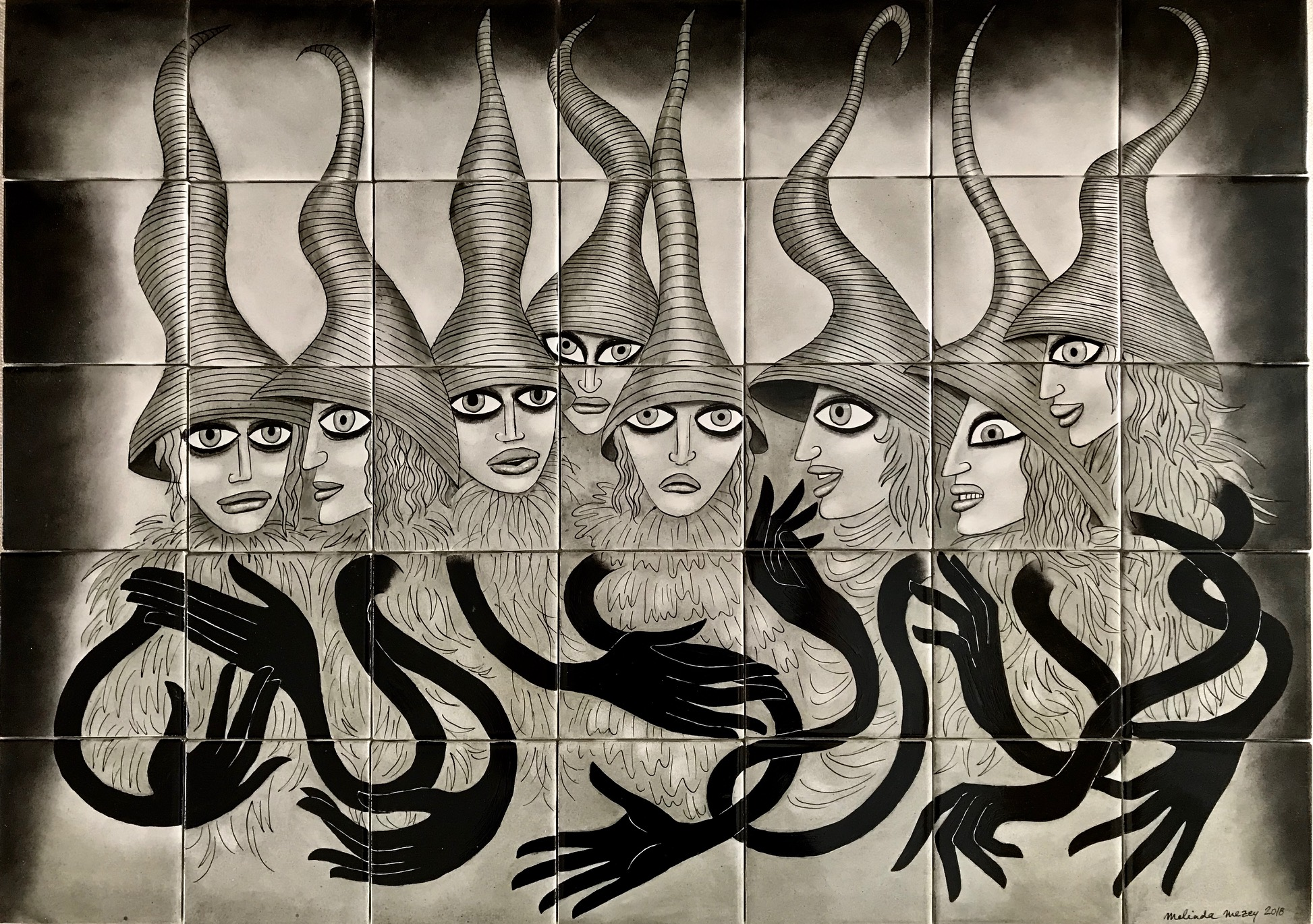 Black Witches  - 30 x 21 in, 76 x 54 cm