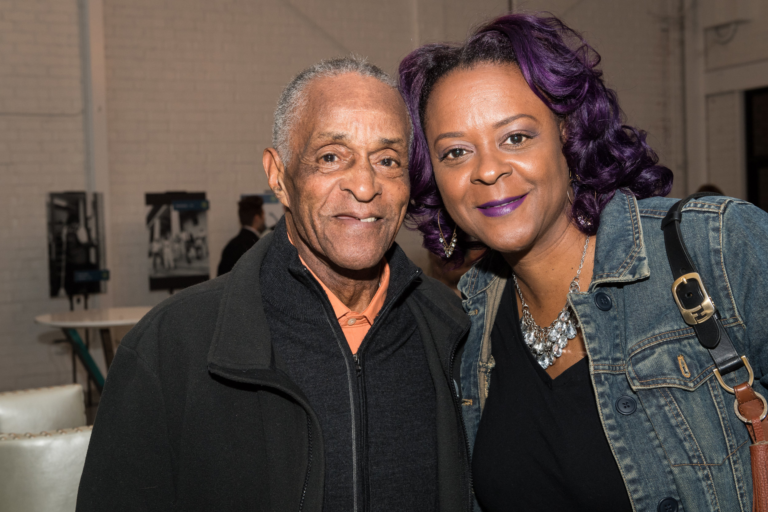 Longtime South Atlanta resident Mr. John Haygood with his daughter and FCS Board Member, Lisa Haygood.