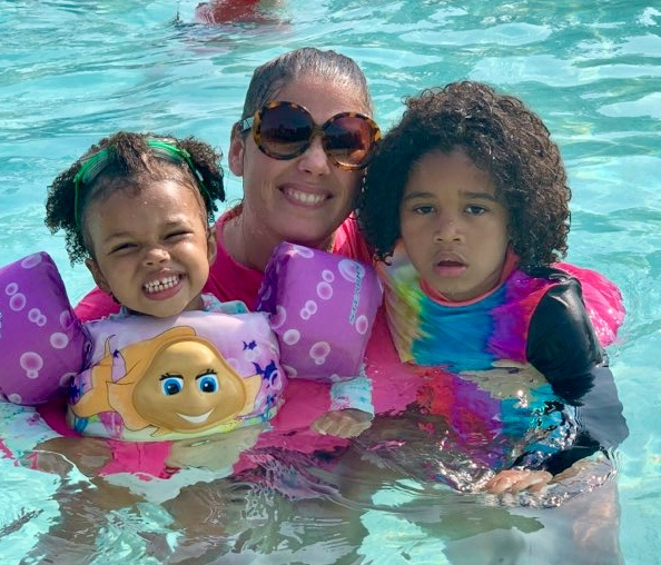 Michelle and her two daughters at Camp Grace 2019