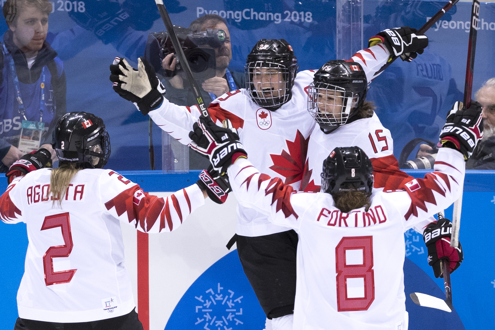Team Canada battles the United States for the gold medal in women's Hockey at the Gangneung Hockey Centre during the PyeongChang 2018 Olympic Winter Games in Gangneung, South Korea, Wednesday, February 21, 2018. COC – David Jackson