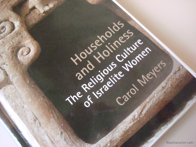 """""""Feminist biblical scholarship has not sufficiently broken away from Western male models of what constitutes religion."""" Carol Meyers,  Households and Holiness (p. 5)"""