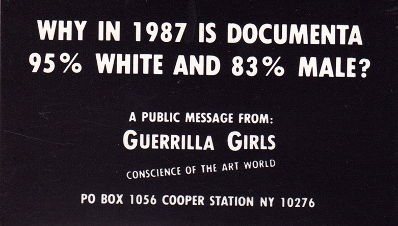 WHY IN 1987 IS DOCUMENTA 95% WHITE AND 83% MALE?