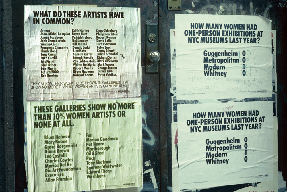 GUERRILLA GIRLS' FIRST POSTERS ON NYC STREETS