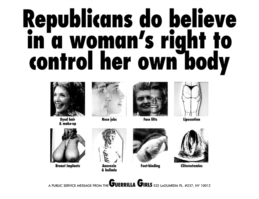 REPUBLICANS DO BELIEVE IN A WOMAN'S RIGHT TO CONTROL HER OWN BODY